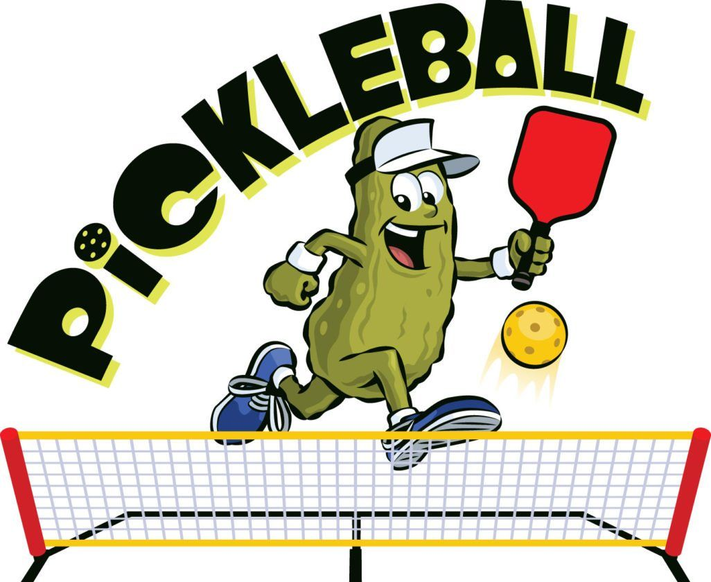 pickleball cartoon