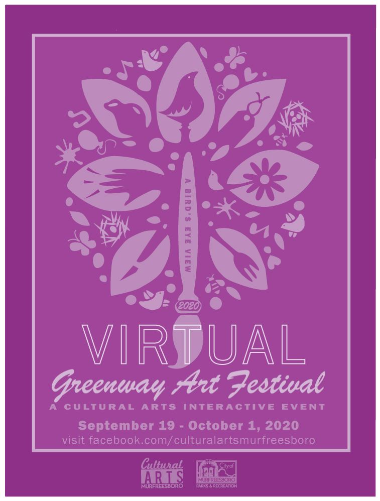 Virtual Greenway Art Festival Poster