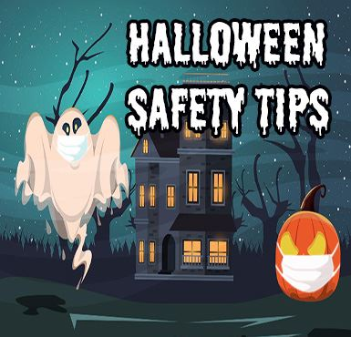Spooky Halloween Scene for Safety Tips