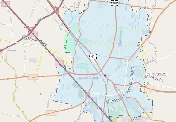 Service Area GIS Map For Forms