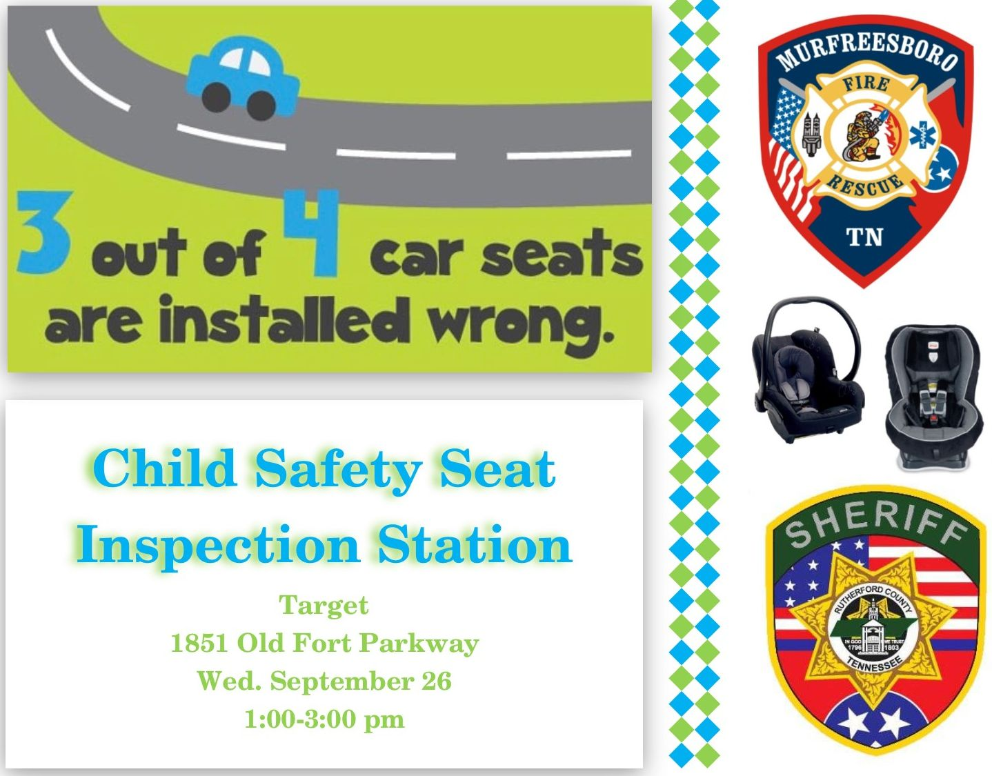 Child Safety Seat Flyer Wed 26