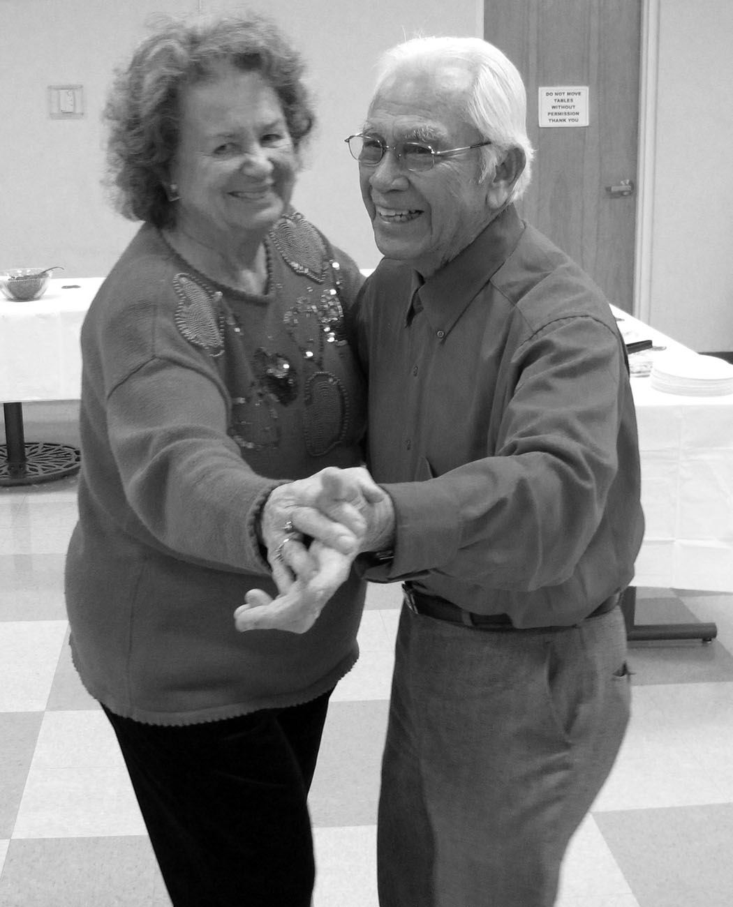 Stan and Shirley Solamillo dance at Valentine Party