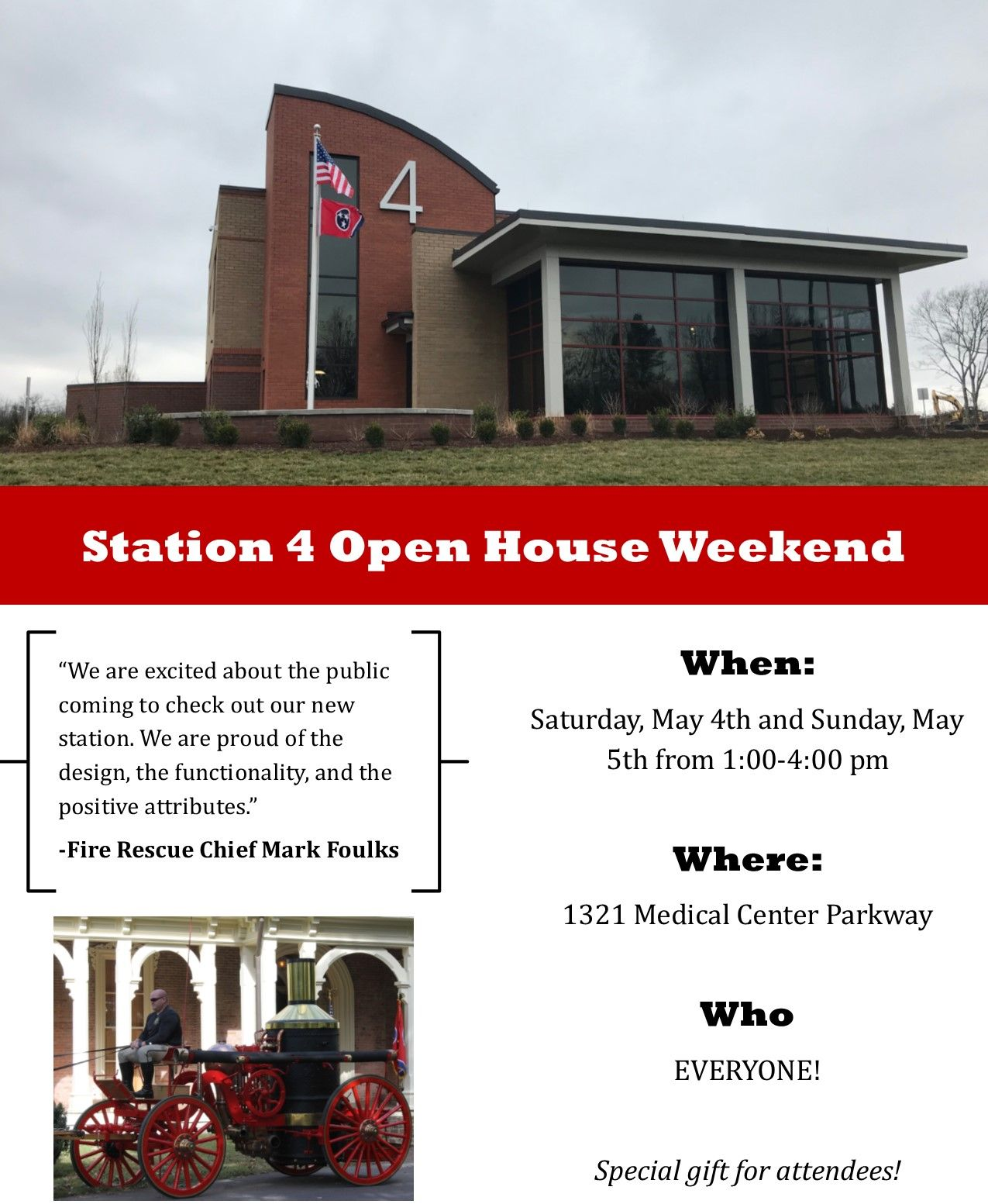 Station 4 Open House Public May 4 and 5