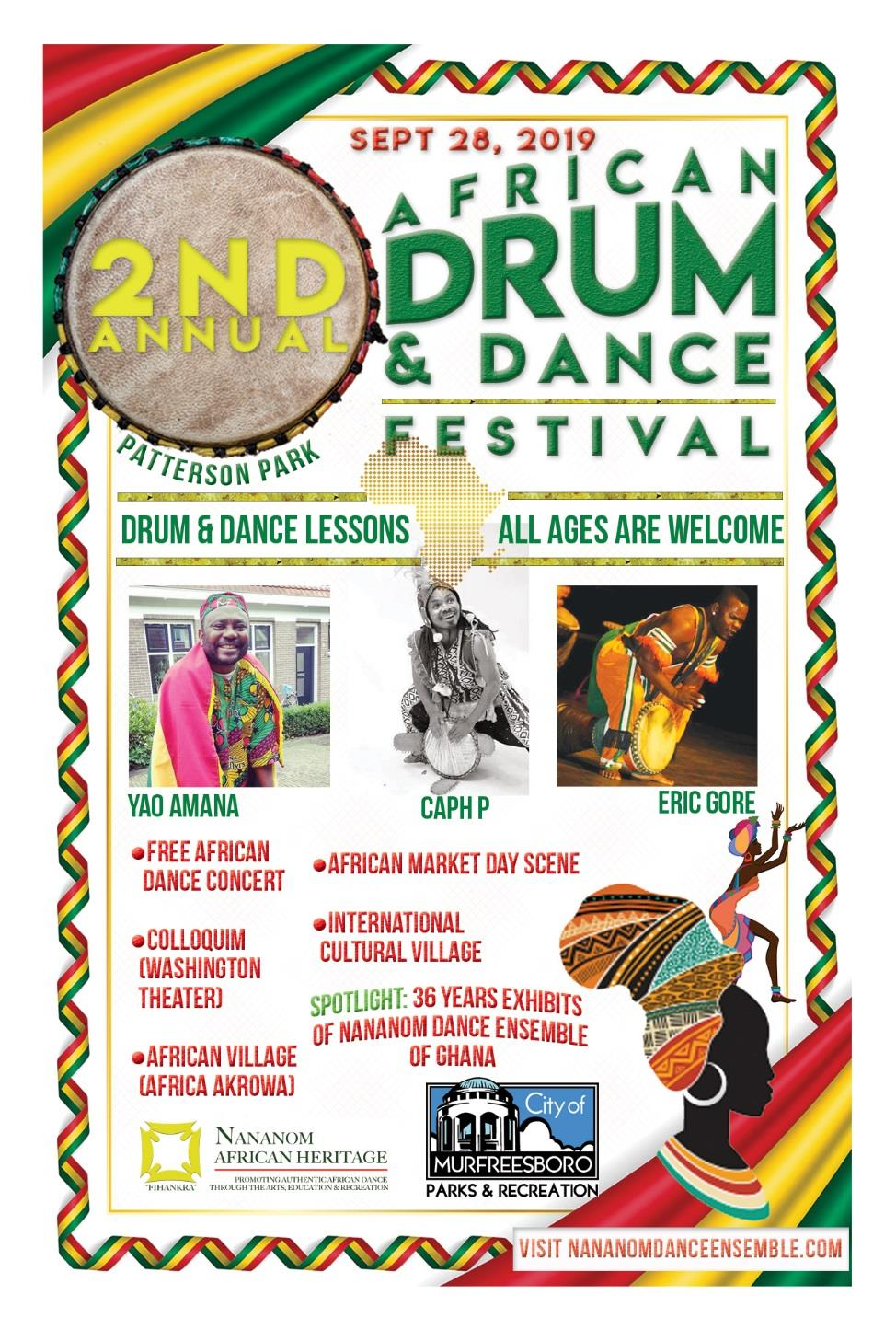 2019 African Drum Dance Festival Flyer