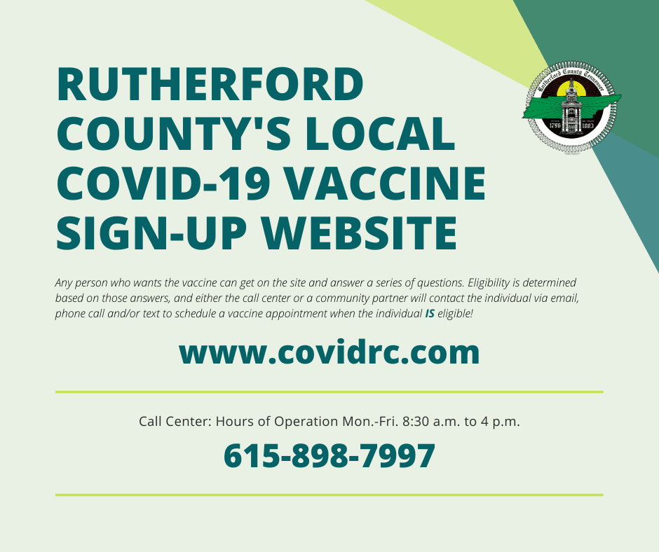 Rutherford Countys local covid vaccine sign up website graphic Opens in new window