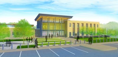 Rendering of New Police Headquarters on Highland Avenue