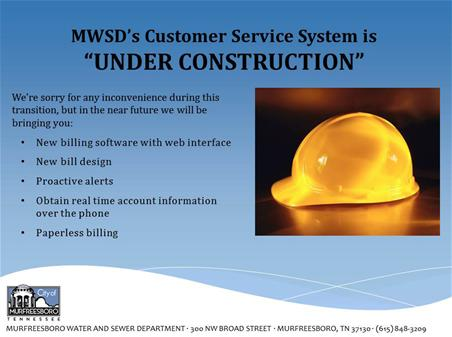 Customer Service System is Under Construction