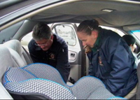 Inspection of child safety seat