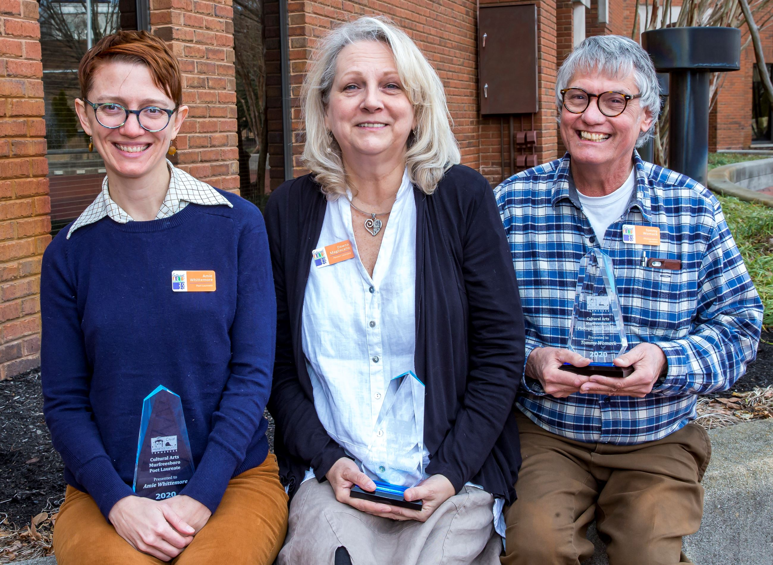 Amie Whittemore, Dawna Magliacano & Tommy Womack 2020 Laureates
