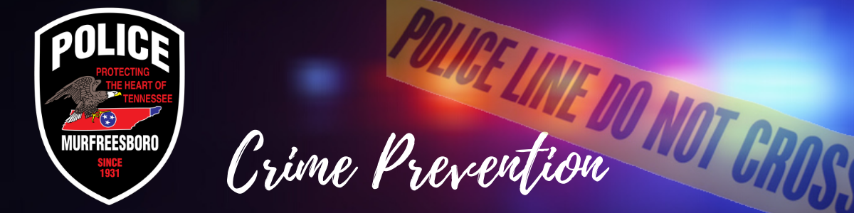 CRIME PREVENTION BANNER