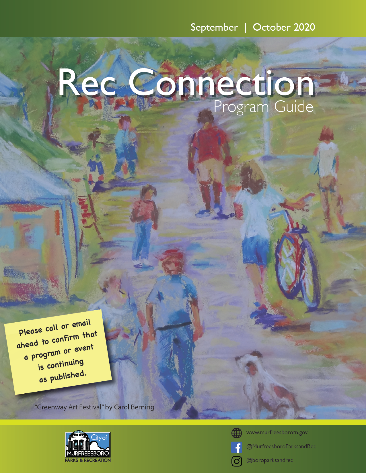 Rec Connection cover September October 2020