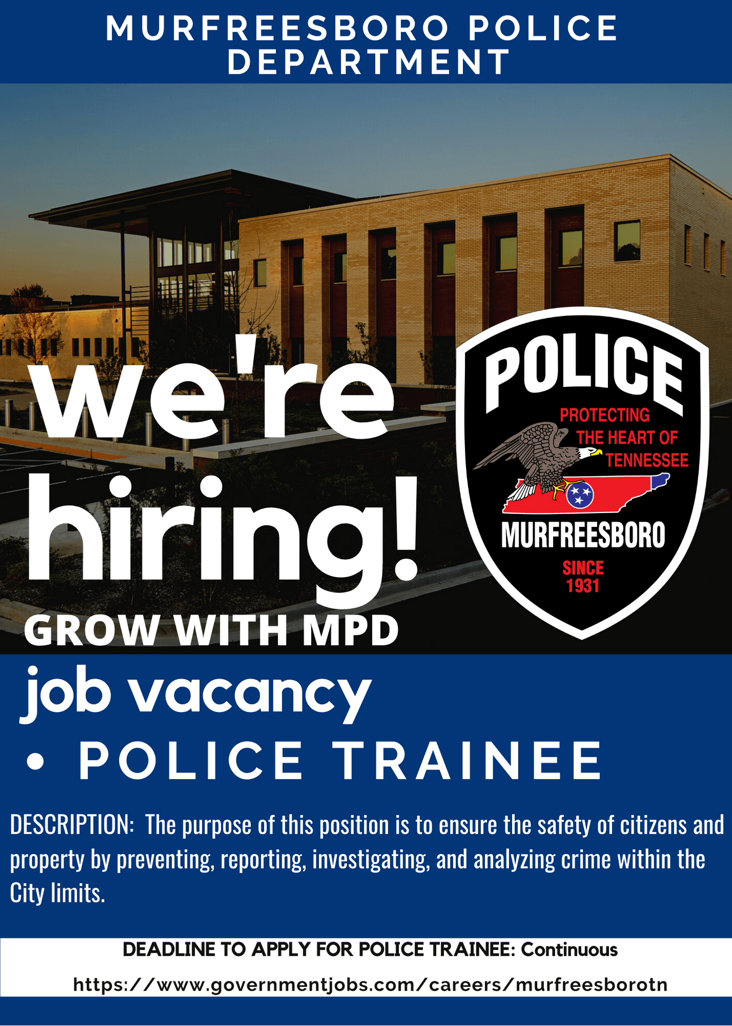 MPD Job Vacancy Officer