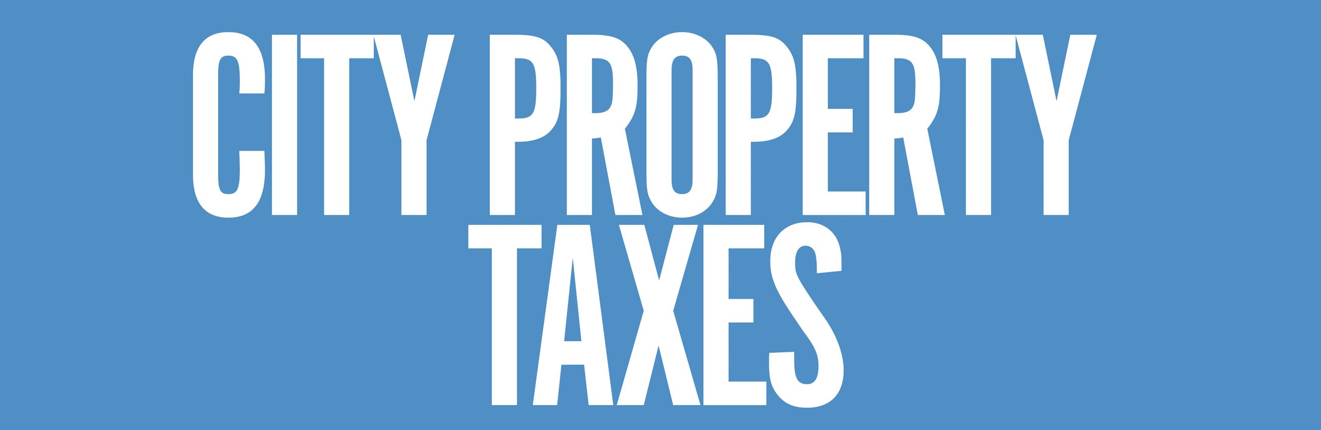 Pay City Property Taxes